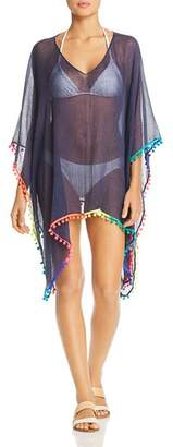 Echo Pom-Pom Caftan Swim Cover-Up