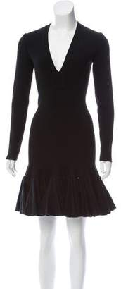 Alaia Wool Rib Knit Dress