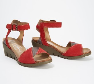 Fly London Leather Colorblocked Wedges - Imat