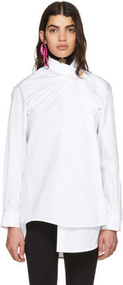 Balenciaga White Pulled Shirt