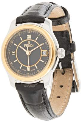 Fendi Pre-Owned round face wrist watch