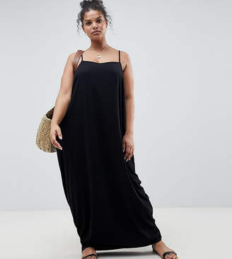 Asos DESIGN Curve tab back drape hareem maxi dress