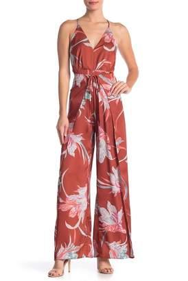 L'Atiste Floral V-Neck Jumpsuit