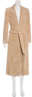 Wes Gordon Suede Long Coat
