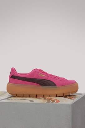 Puma Bi-color Trace platform suede sneakers