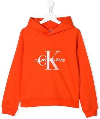Calvin Klein Kids logo patch hoodie