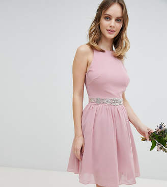 TFNC Petite Petite Embellished Midi Bridesmaid Dress with Full Prom Skirt