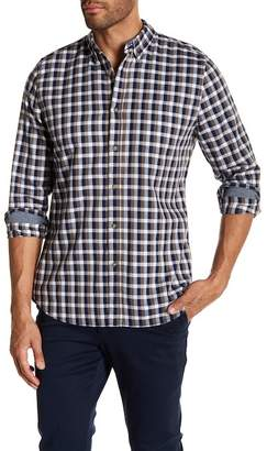 AG Jeans Standard Fit Plaid Long Sleeve Dress Shirt