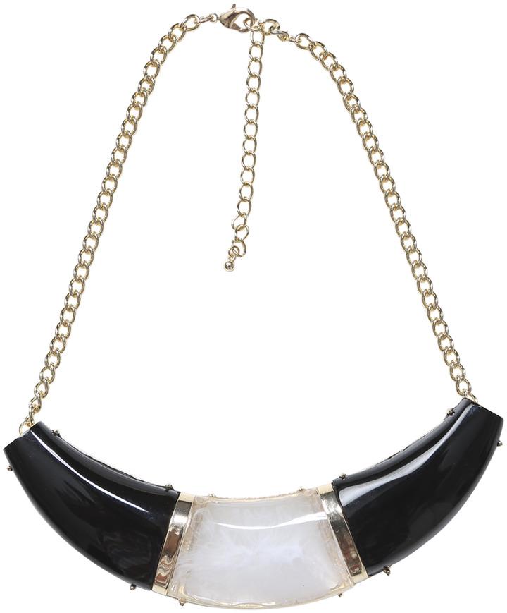 Arden B Faux Horn Colorblock Necklace