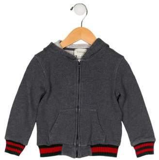 Gucci Infants' Hooded Zip-Up Jacket grey Infants' Hooded Zip-Up Jacket