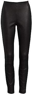 Rag & Bone Rag& Bone Rag& Bone Women's Simone High-Rise Leather Slim-Fit Crop Pants
