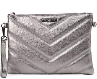Marc Ellis Silver Laminate Quilted Leather Handbag