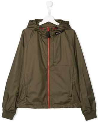 Woolrich Kids TEEN hooded rain jacket