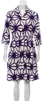 Samantha Sung Printed Collard Shirtdress