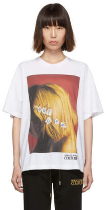 Versace White Couture Blonde Hair Girl T-Shirt