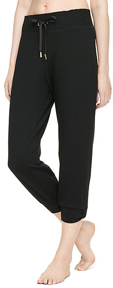 Relaxed cropped bow sweatpants