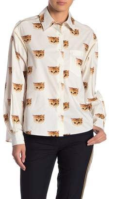 Paul & Joe Sister Miami Button-Up Cat Blouse