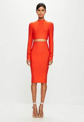 Missguided Orange Bandage Crop Top