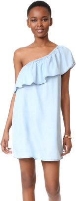 BB Dakota One Shoulder Ruffle Dress $105 thestylecure.com