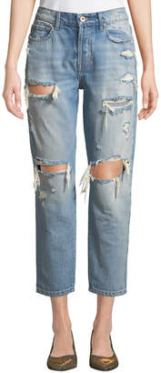 Pistola Nico Distressed Mom-Fit Jeans