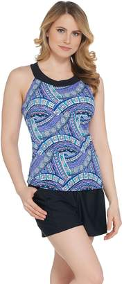 Ocean Dream Signature Tiki Maze Hi-Neck Tankini Swimsuit