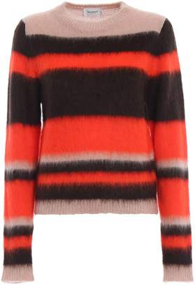 Dondup Colour Block Fluffy Mohair Blend Sweater