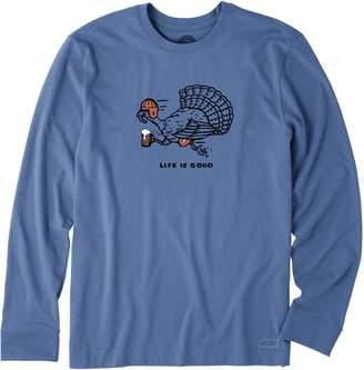 Life is Good Men's Crusher Long Sleeve Turkey Run Tee