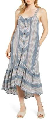 Caslon Stripe High/Low Cotton Maxi Dress (Regular & Petite)