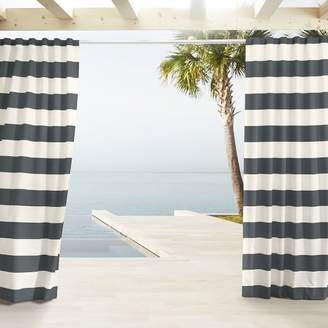 west elm Outdoor Stripe Curtains - Cavern