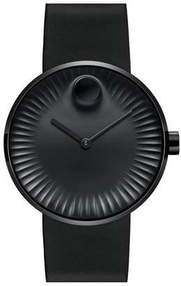 Movado 'Edge' Rubber Strap Watch, 40Mm $495 thestylecure.com