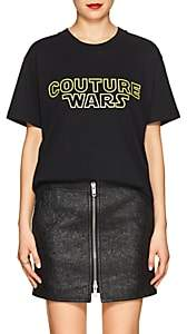 "Moschino Women's ""Couture Wars"" Cotton T-Shirt - Black"