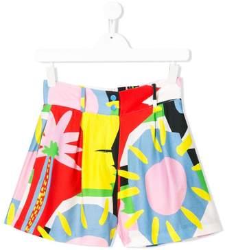 Stella McCartney TEEN palms print shorts
