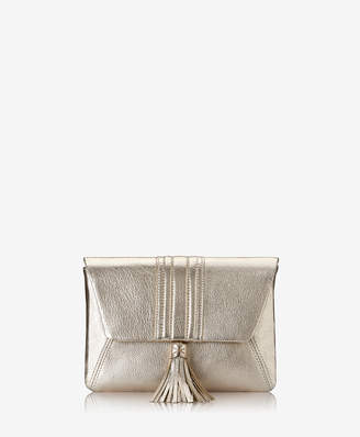 GiGi New York Ava Clutch, Rose Gold Metallic Goatskin