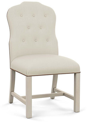 Bunny Williams Home Jack Side Chair - Natural Diamond Linen