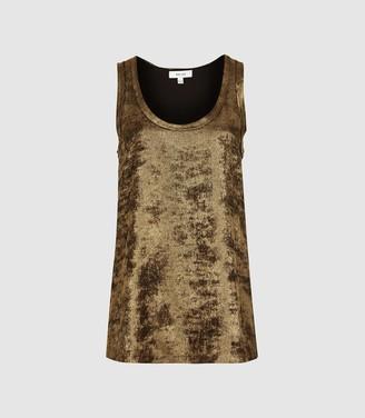 fd96f267d50dc4 Gold Sleeveless Tops For Women - ShopStyle UK