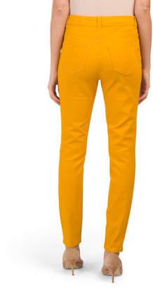 Super High Waist Sateen Skinny Jeans