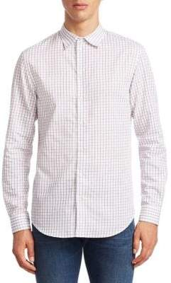 Emporio Armani Check Button-Down Shirt