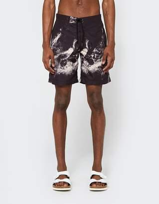John Elliott Board Shorts in Black Wave
