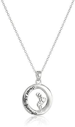 Disney Sterling Winnie The Pooh Sweet Like Hunny Pendant Necklace