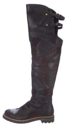 Cesare Paciotti By Midnight Suede Knee-High Boots Brown By Midnight Suede Knee-High Boots
