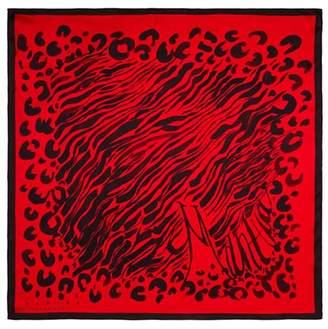 Mantua Silkwear Maska Spot on Red Silk Scarf