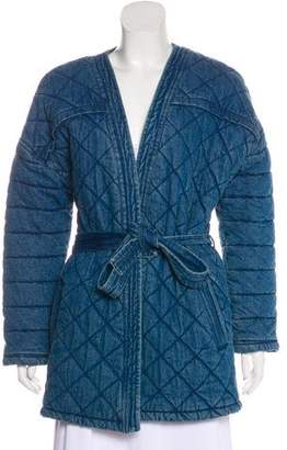 Claudie Pierlot Quilted Denim Short Coat