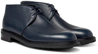 John Lobb Grove Full-Grain Leather Chukka Boots - Navy