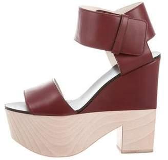 Celine Leather Platform Sandals
