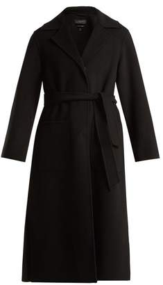 Max Mara Belted Wool Coat - Womens - Black