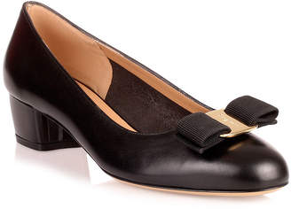 Salvatore Ferragamo Vara black calf pump