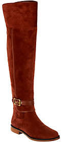 Franco Sarto Wide Calf Suede Over-the-KneeBoots - Crimson