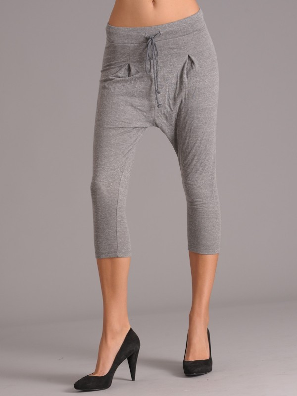 David Lerner Harem Cropped Sweatpants