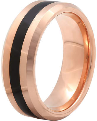 MODERN BRIDE Mens 8mm Comfort Fit Ion-Plated Tungsten Wedding Band