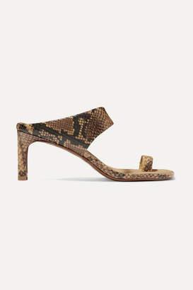 Zimmermann Snake-effect Leather Sandals - Snake print